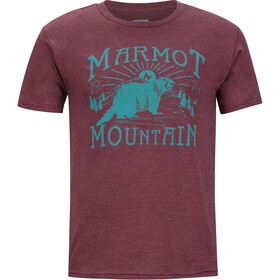 Marmot Sunrise SS Tee Men burgundy heather